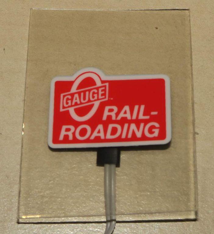 Enseigne lumineuse O Gauge Railroading échelle O/HO Miller Engineering