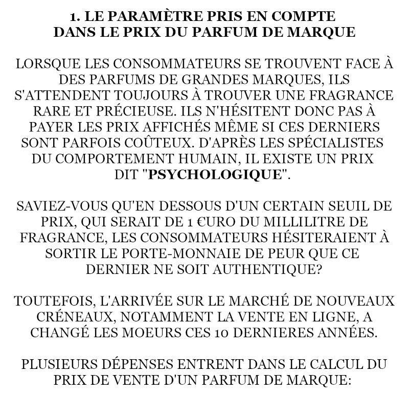 9/ DÉCOMPOSITION D'UN PARFUM