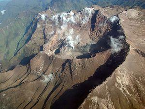 De haut en bas, et de gauche à droite :  le Chiles-Cerro Negro, le Cayambe, le Cuicocha, le Guagua Pichincha, le Cotopaxi et le Tungurahua. - photos IGEPN & J.L.Espinosa Naranjo