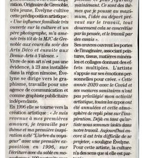 """Article du Midi Libre le 20/01/21 & article en ligne dans """"Voir Plus"""""""