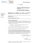 Note de service, Organisation des horaires de travail des services administratifs et techniques en cas de fortes chaleurs