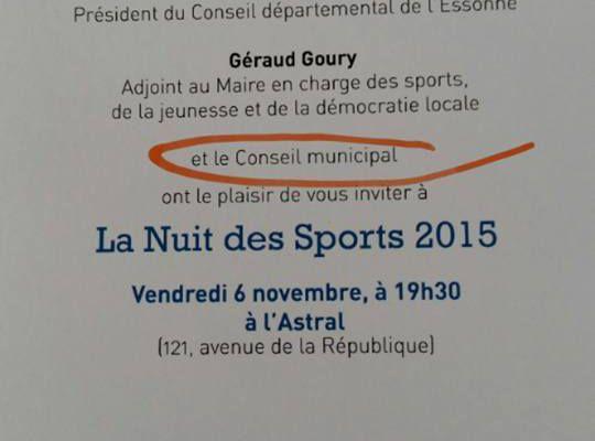 Les élus de l'opposition ne sont pas conviés à la nuit des sports