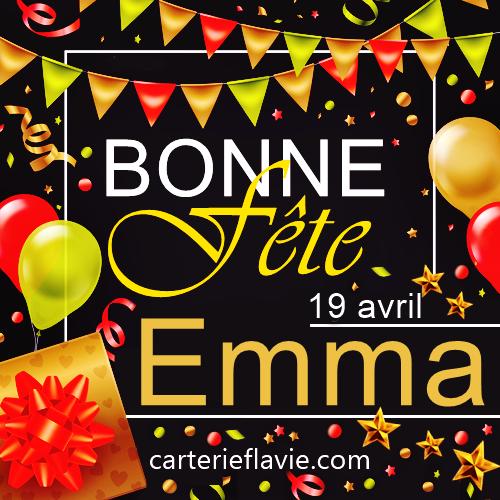 En ce 19 avril, nous souhaitons une bonne fête à Emma 🙂