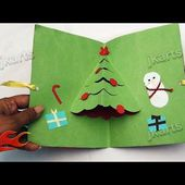 How To Make Christmas Pop Up Card | School Project for Kids | JK Arts 106