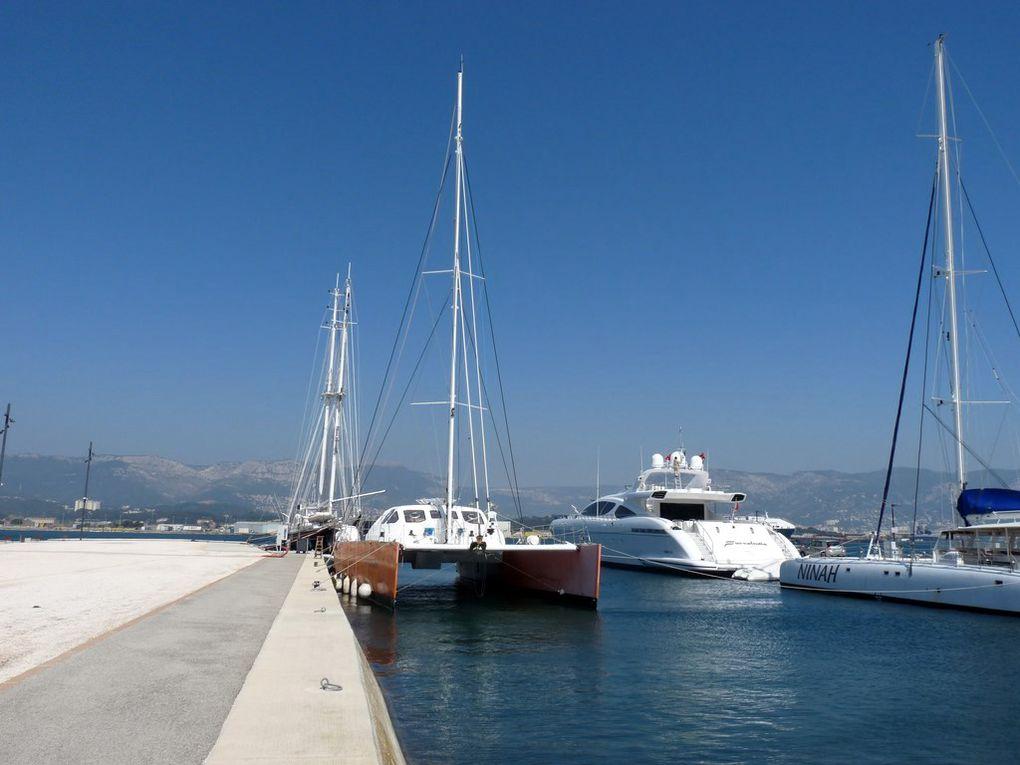 SOLANA , a quai à la Seyne sur mer les 3/7 avril 2013 et en petite rade de Toulon le 30 septembre 2013