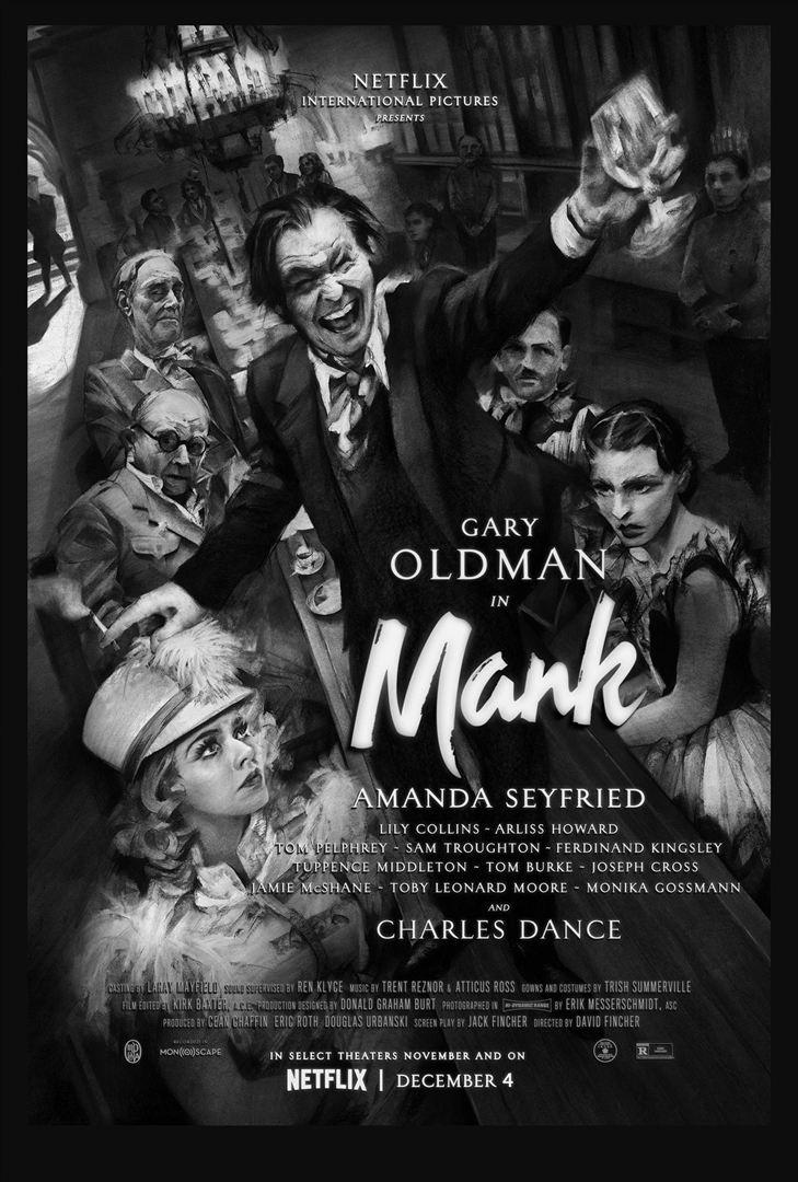 Mank (BANDE-ANNONCE) de David Fincher avec Gary Oldman, Amanda Seyfried, Lily Collins sur Netflix le 4 décembre 2020