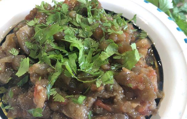 zaalouk ou salade d'aubergine à la marocaine