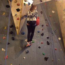 Les grimpeurs en action