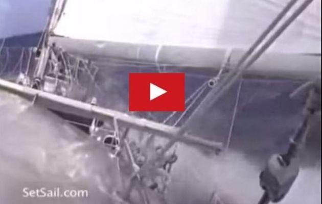 Boating video - 28 knots aboard a 78 feet ketch!