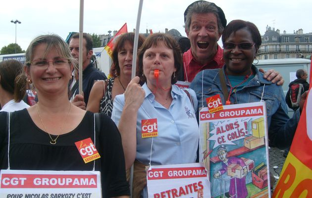 Les CGT Groupama à la manifestation du 23 septembre 2010 sur les retraites Paris et Lille