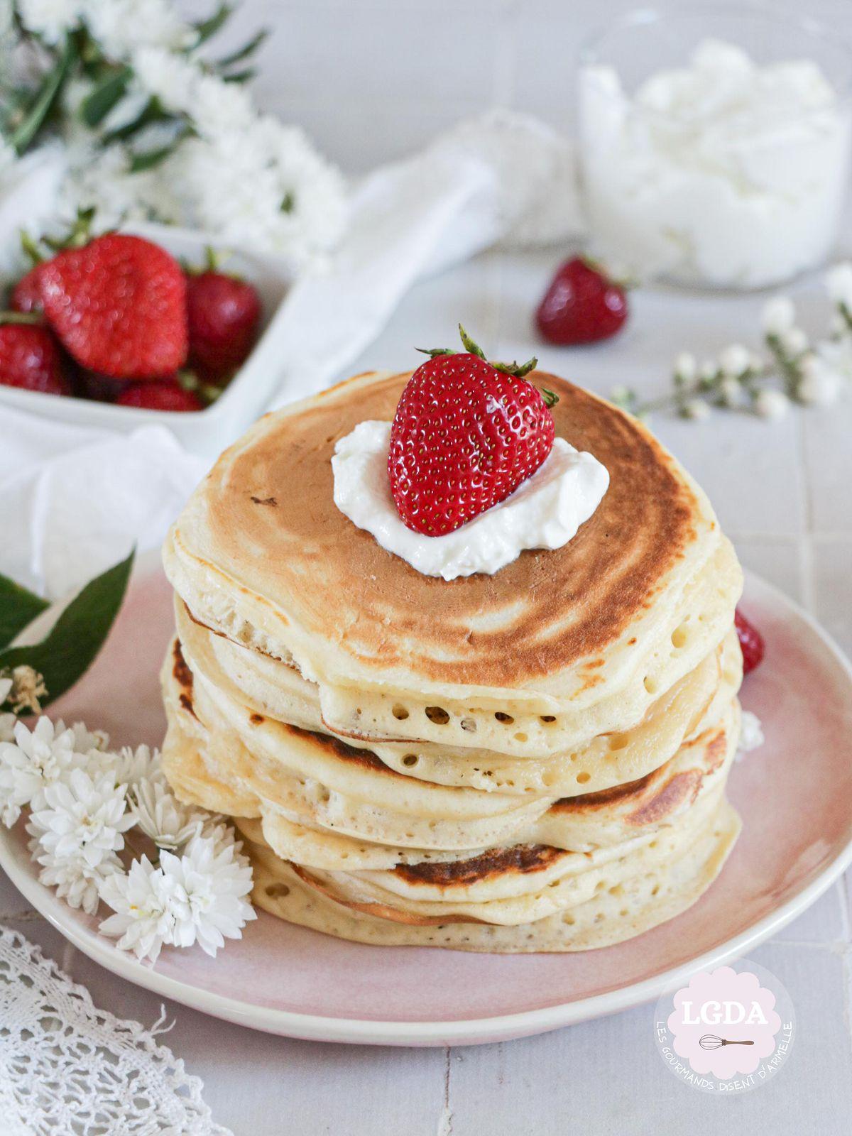 Pancakes au fromage blanc © Les Gourmands {disent} d'Armelle