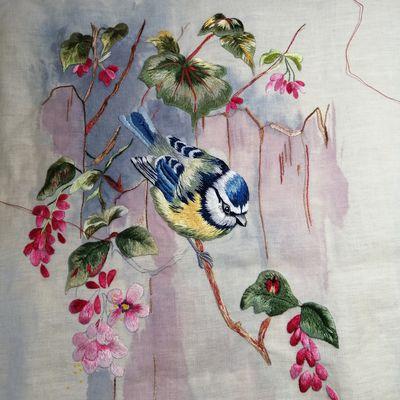Peinture à l'aiguille réalisée par Annick V.