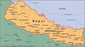 Voici la carte du Népal en Asie.