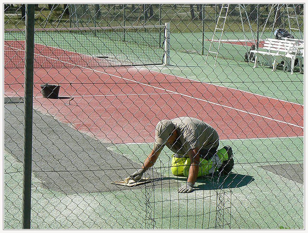 Saint André les Alpes : Restauration des courts de tennis