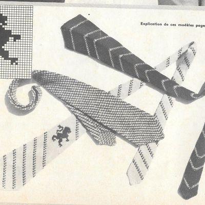 cravates à tricoter soi-même