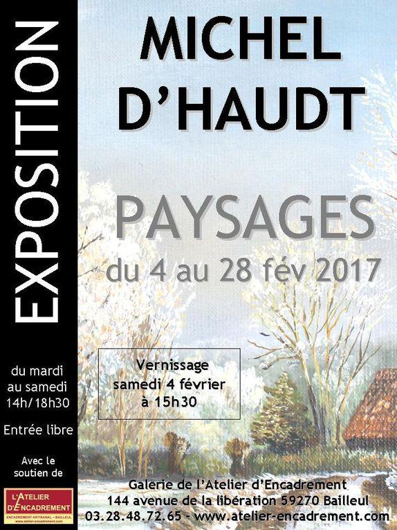 Exposition Michel D'HAUDT à la Galerie de l'Atelier