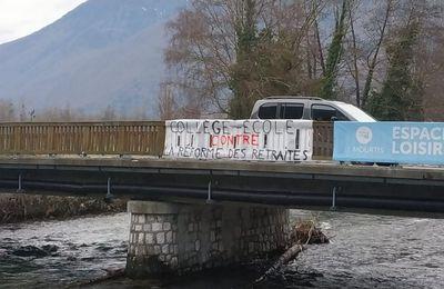 Saint-Béat : les enseignants affichent leur opposition à la réforme des retraites