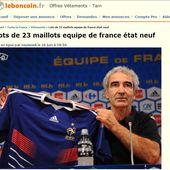 Humour Equipe de France Football: 23 Maillots à vendre