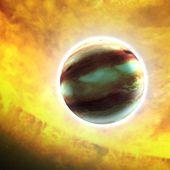 Une exoplanète géante avec des vents de saphirs et de rubis ?
