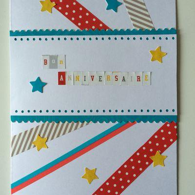 Carte d'anniversaire multicolore