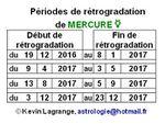 De 12-2016 à 12-2017 : dates et implications de Mercure rétrograde + vidéo