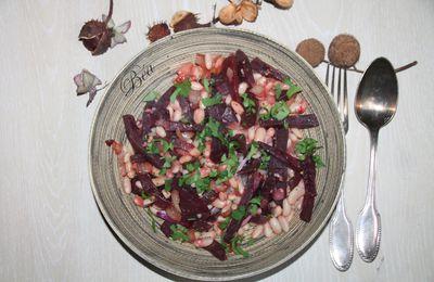 Poêlée de betteraves rouges et haricots lingot