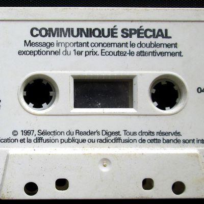 Cassette publicitaire Sélection  Reader's Digest- communiqué spécial - 1997