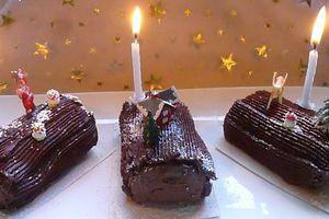 bûchettes (ou bûche) à la crème de marrons chocolatée