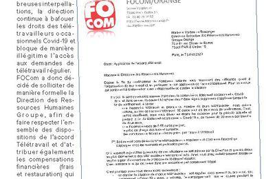 Télétravail : la direction doit appliquer l'accord et rendre justice aux télétravailleurs occasionnels Covid-19