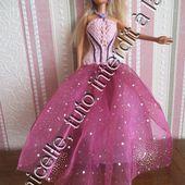 tuto gratuit Barbie: robe princesse améthyste - Chez Laramicelle