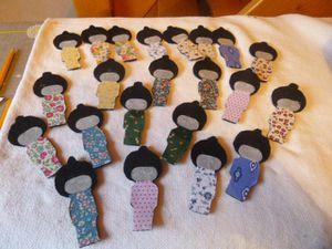 mémory des poupées kokeshi