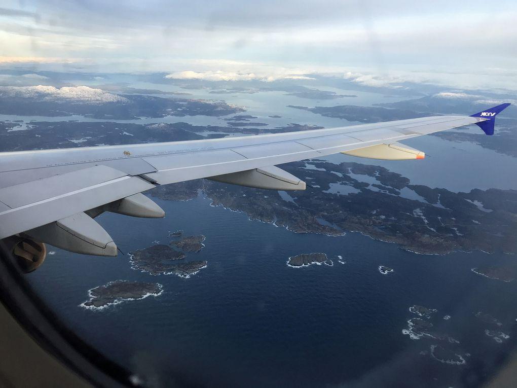 Arrivée au dessus de la Norvège