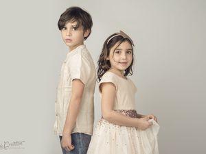 Ilian et Celia séance studio