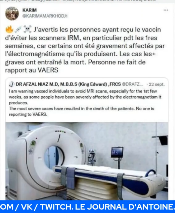 Injection et IRM