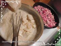 Cassolettes de floraline au Saint-Nectaire et lardons