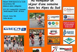 Prix de la Saint Cyr à Dornes, le 04juillet 2021 - Catégories : 2ème - 3ème - Juniors - Pass'cyclisme Open / Carte Vélo jeunes + Minimes