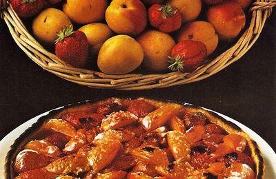 Tarte aux fraises et aux abricots