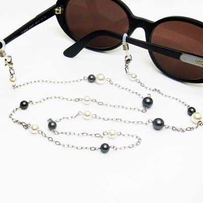 Chaine de lunettes perlée, cordon lunettes bijou, perles swarovski, personnalisable
