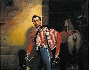 Lieutenant du 1er hussards vers 1840.