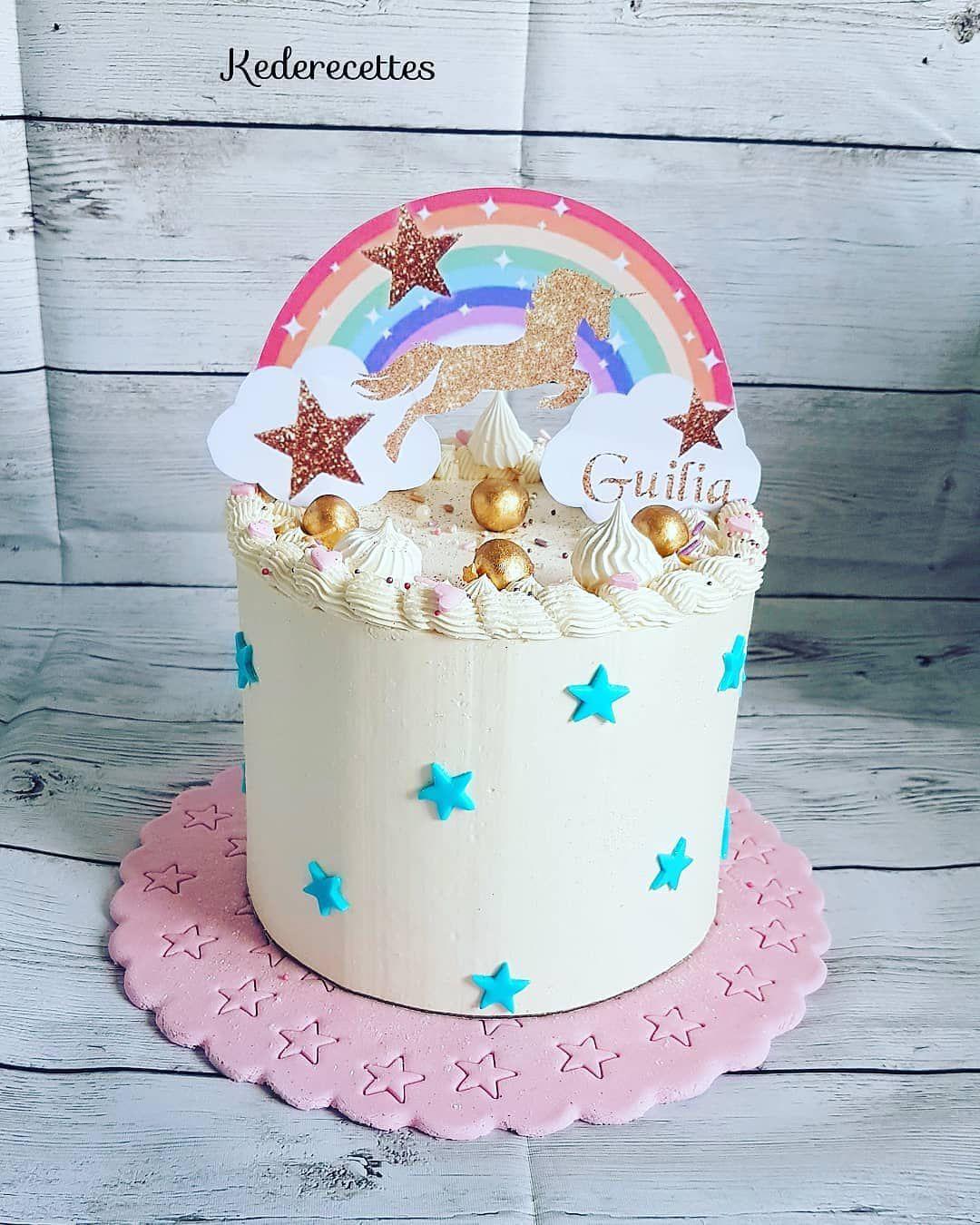Layer Cake Licorne arc en ciel