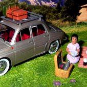 FASCICULE N°4 RENAULT ONDINE - LA PAUSE PIQUE-NIQUE - AIX EN PROVENCE IXO 1/43. - car-collector.net