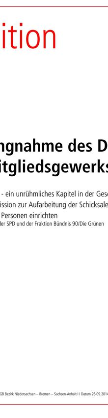 9/14 DGB-Nds.-Stellungnahme gegen Radikalenerlass