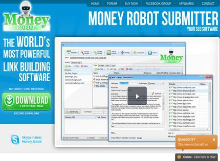 Money Robot Submitter is the most powerful SEO automation tool