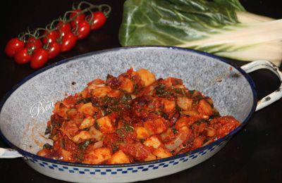 Blettes aux pommes de terre et chorizo