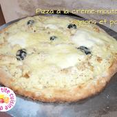 Pizza à la crème-moutarde oignons et poulet - La p'tite cuisine d'Isa