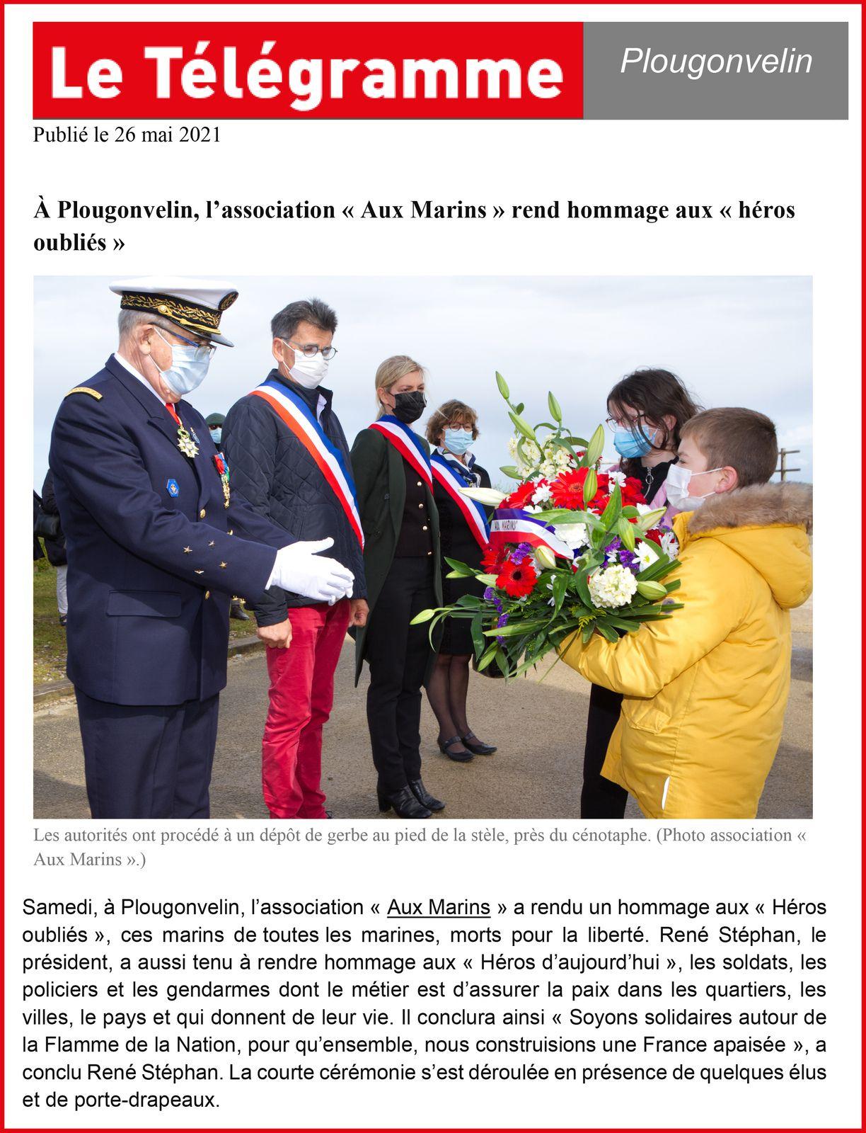 22 MAI 2021-CÉRÉMONIE DU SOUVENIR ET RAVIVAGE DE LA FLAMME DE LA NATION