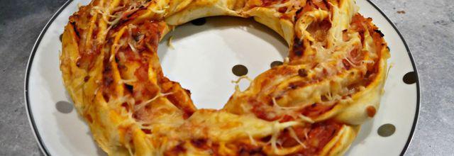 Pizza façon Kringel (pizza tressée)