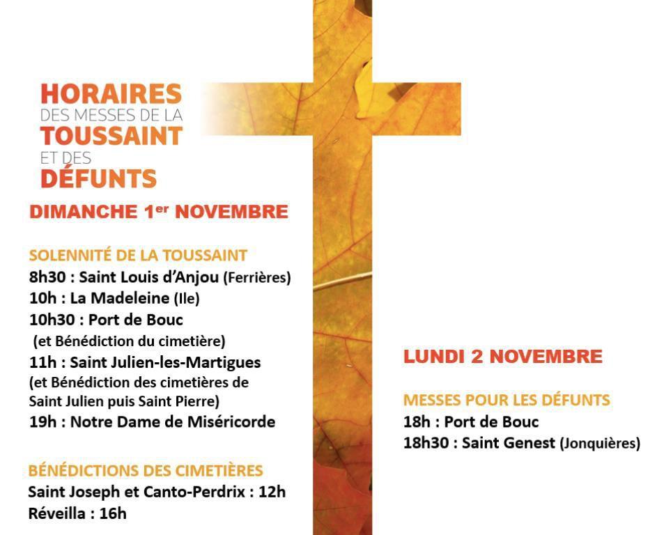 Solennité de tous les Saints et Commémoration de tous les fidèles défunts