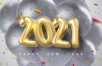 Happy New Year 2021 - Ballons - Confettis - Fêtes - Wallpaper - Free