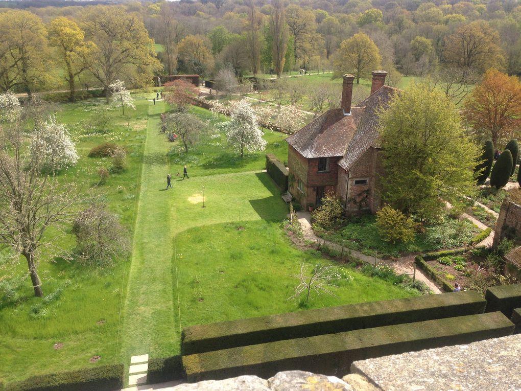 Vue du haut de la tour de Sissinghurst Castle - 5 photos